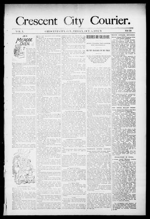 Primary view of object titled 'Crescent City Courier. (Crescent City, Okla. Terr.), Vol. 1, No. 39, Ed. 1 Friday, October 5, 1894'.