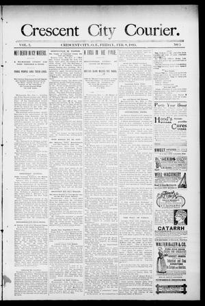 Primary view of object titled 'Crescent City Courier. (Crescent City, Okla. Terr.), Vol. 2, No. 5, Ed. 1 Friday, February 8, 1895'.