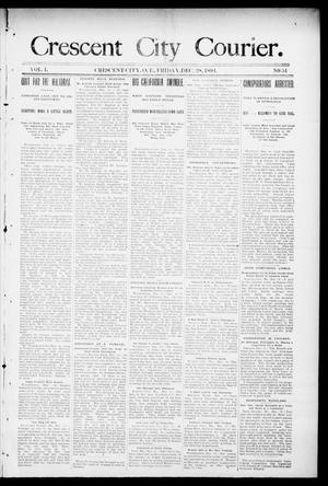 Primary view of object titled 'Crescent City Courier. (Crescent City, Okla. Terr.), Vol. 1, No. 51, Ed. 2 Friday, December 21, 1894'.