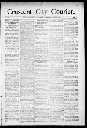 Primary view of object titled 'Crescent City Courier. (Crescent City, Okla. Terr.), Vol. 1, No. 7, Ed. 1 Friday, February 23, 1894'.