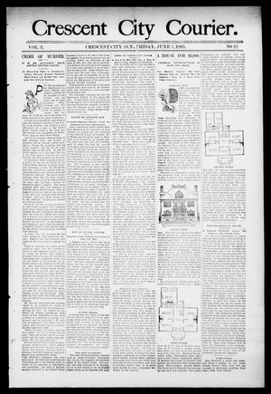 Primary view of object titled 'Crescent City Courier. (Crescent City, Okla. Terr.), Vol. 2, No. 22, Ed. 1 Friday, June 7, 1895'.