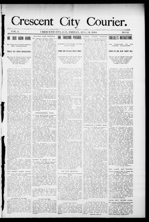 Primary view of object titled 'Crescent City Courier. (Crescent City, Okla. Terr.), Vol. 1, No. 34, Ed. 1 Friday, August 31, 1894'.