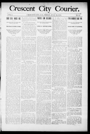 Primary view of object titled 'Crescent City Courier. (Crescent City, Okla. Terr.), Vol. 1, No. 28, Ed. 1 Friday, July 20, 1894'.