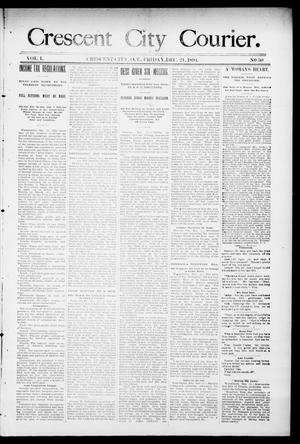 Primary view of object titled 'Crescent City Courier. (Crescent City, Okla. Terr.), Vol. 1, No. 50, Ed. 1 Friday, December 21, 1894'.