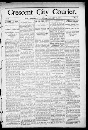 Primary view of object titled 'Crescent City Courier. (Crescent City, Okla. Terr.), Vol. 1, No. 2, Ed. 1 Friday, January 19, 1894'.