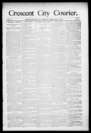 Primary view of object titled 'Crescent City Courier. (Crescent City, Okla. Terr.), Vol. 1, No. 4, Ed. 1 Friday, February 2, 1894'.
