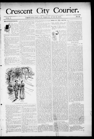 Primary view of object titled 'Crescent City Courier. (Crescent City, Okla. Terr.), Vol. 2, No. 24, Ed. 1 Friday, June 21, 1895'.