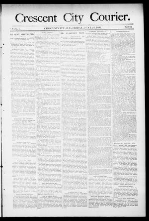 Primary view of object titled 'Crescent City Courier. (Crescent City, Okla. Terr.), Vol. 1, No. 24, Ed. 1 Friday, June 22, 1894'.