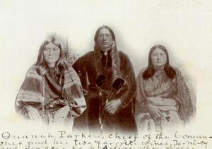 Primary view of object titled 'Quanah Parker and wives'.