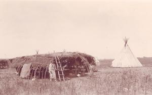 Primary view of object titled 'Kiowa Red Horns Summer Camp near Anadarko'.