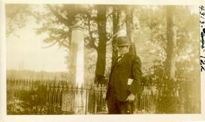 Primary view of object titled 'Judge Robert Lee Williams at the Grave of Robert M. Jones'.