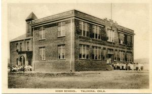 Primary view of object titled 'High School, Talihina, Oklahoma'.