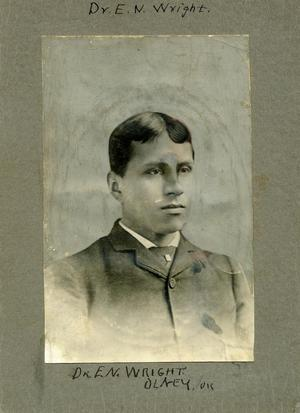 Primary view of object titled 'Choctaw Doctor E.N. Wright'.