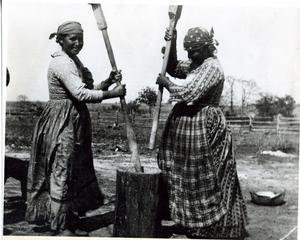 Primary view of object titled 'Two Creek Women Making Sofky'.