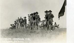 Primary view of object titled 'Students Observing a Fire at Field Artillery School'.