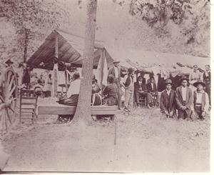 Primary view of object titled 'Choctaw Religious Camp in McCurtain County'.