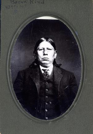 Primary view of object titled 'Osage Chief Bacon Rind'.