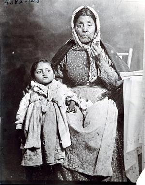 Primary view of object titled 'Creek Woman with a Child'.