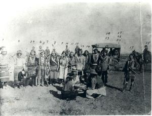 Primary view of Caddo tribal dance group.