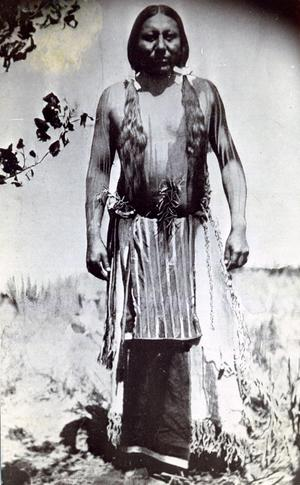 Primary view of object titled 'Cheyenne Man Prepared for the Sun Dance'.