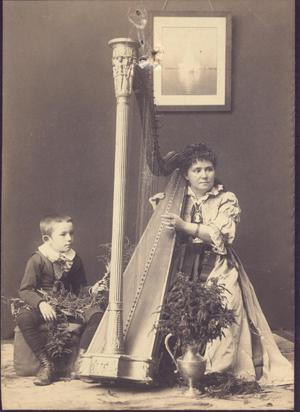 Primary view of Vinnie Ream Hoxie with Her Harp and Her Son