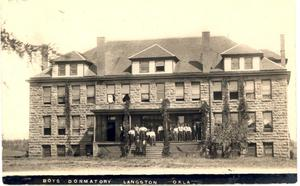 Primary view of object titled 'Langston University Boys Dorm'.
