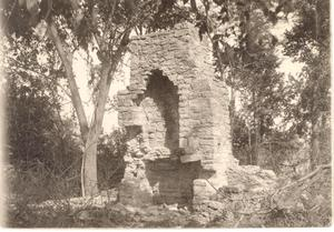 Primary view of object titled 'Ruins of a Fireplace at Fort Towson'.