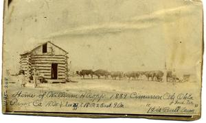 Primary view of object titled 'Home of William H. Ropp in Cimarron City'.