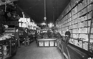 Primary view of object titled 'Interior of unknown store'.