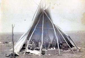 Primary view of object titled 'Pawnee in a Tipi'.