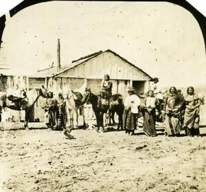 Primary view of object titled 'Kiowas at Sutler's Store'.