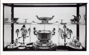 Primary view of object titled 'U.S.S. Oklahoma Punch Bowl and other Items.'.