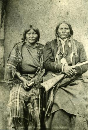 Primary view of object titled 'Kiowa Chief Big Bow and Wife'.