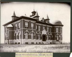 Primary view of object titled 'Oklahoma State Baptist College in Blackwell'.