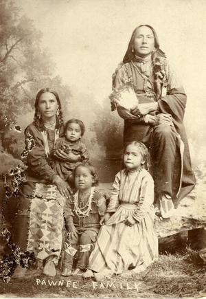 Primary view of object titled 'Pawnee Indian family.'.