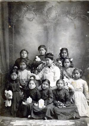 Primary view of object titled 'Creek Children at Orphan Home'.