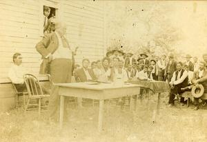 Primary view of object titled 'Chief Green McCurtain Addressing Choctaw Officials'.