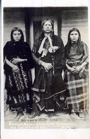 Primary view of object titled 'Quanah Parker with Wives'.