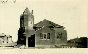 Primary view of object titled 'Baptist Church, Dewey, Oklahoma.'.