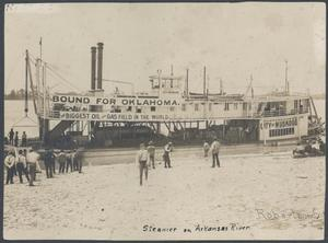 Primary view of object titled 'Steamer on the Arkansas River'.