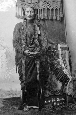 Primary view of object titled 'Kiowa Aw-Ba-Goodle, Father of Bessie Poolaw'.