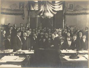 "Primary view of object titled 'Signing of the ""Jim Crow"" Law in the First Legislature'."