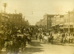 Primary view of object titled 'Cotton Market Street Scene in Ardmore, Oklahoma'.