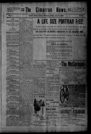 Primary view of object titled 'The Cimarron News. (Kenton, Okla.), Vol. 2, No. 49, Ed. 1 Friday, July 13, 1900'.