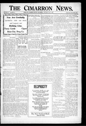 Primary view of object titled 'The Cimarron News. (Boise City, Okla.), Vol. 26, No. 23, Ed. 1 Thursday, January 3, 1924'.