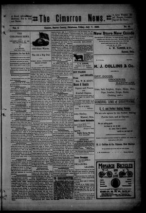 Primary view of object titled 'The Cimarron News. (Kenton, Okla.), Vol. 1, No. 48, Ed. 1 Friday, July 7, 1899'.