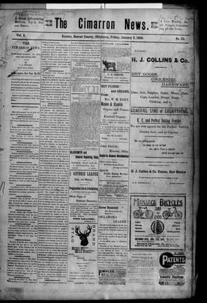 Primary view of object titled 'The Cimarron News. (Kenton, Okla.), Vol. 2, No. 22, Ed. 1 Friday, January 5, 1900'.
