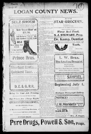 Primary view of object titled 'Logan County News. (Crescent, Okla.), Vol. 2, No. 47, Ed. 1 Friday, July 15, 1904'.