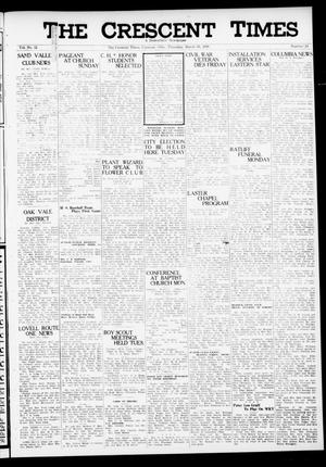 Primary view of object titled 'The Crescent Times (Crescent, Okla.), Vol. 32, No. 24, Ed. 1 Thursday, March 30, 1939'.
