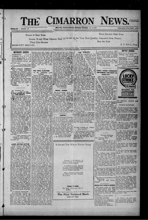 Primary view of object titled 'The Cimarron News. (Boise City, Okla.), Vol. 25, No. 13, Ed. 1 Friday, October 20, 1922'.
